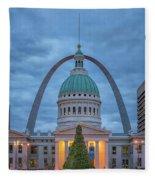 Christmas Jefferson National Expansion Memorial St Louis 7r2_dsc3574_12112017 Fleece Blanket