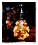 Christmas Lantern Fleece Blanket
