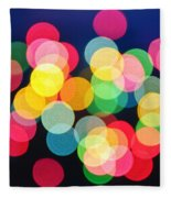 Christmas Lights Abstract Fleece Blanket