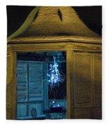 Christmas Lights In Gazebo Fleece Blanket