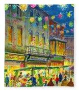 Christmas Market Fleece Blanket