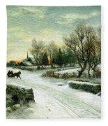 Christmas Morn Textured Fleece Blanket