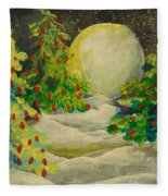 Christmas Night Fleece Blanket
