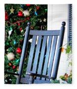 Christmas On The Porch Fleece Blanket
