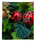 Christmas Ornaments Fleece Blanket