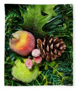 Christmas Ornaments II Fleece Blanket