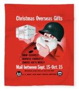 Christmas Overseas Gifts -- Ww2 Fleece Blanket
