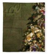 Christmas Peace Fleece Blanket