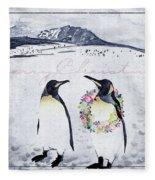 Christmas Penguins Fleece Blanket