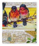 Christmas Postcard Fleece Blanket