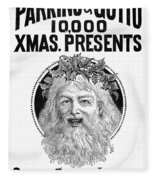 Christmas Present Ad, 1890 Fleece Blanket