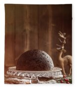 Christmas Pudding Fleece Blanket