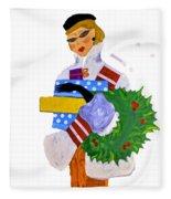 Christmas Shopping - Shop On-line Fleece Blanket