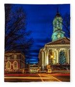 Christmas Small Town Fleece Blanket