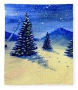 Christmas Snow Fleece Blanket
