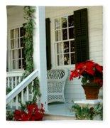 Christmas Spirit In Key West Fleece Blanket