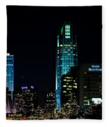 Christmas Time In Omaha Fleece Blanket