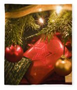 Christmas Tree Decorations And Gifts Fleece Blanket