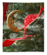 Christmas Tree Decorations Fleece Blanket