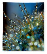 Christmas Tree Made Of Cactus And Water Drops Fleece Blanket
