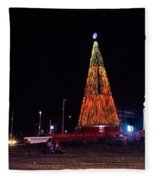 Christmas Tree San Salvador 6 Fleece Blanket
