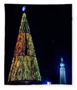 Christmas Tree San Salvador Fleece Blanket