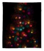 Christmas Tree Splatter Paint Abstract Fleece Blanket
