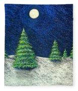 Christmas Trees In The Snow Fleece Blanket