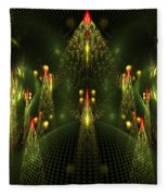 Christmas Trees Pattern Fleece Blanket