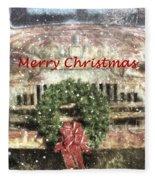 Christmas Truck Fleece Blanket