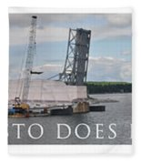 Christo Does Door County Fleece Blanket