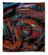 Chrome Leather And Power 1481 H_2 Fleece Blanket