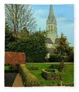 Church Garden Fleece Blanket