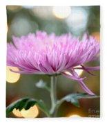Chrysanthemum Happiness Fleece Blanket