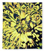 Chrysanthemum Pop Fleece Blanket
