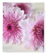 Chrysanthemums #009 Fleece Blanket