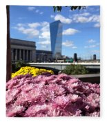 Chrysanthemums And Cirrus  Fleece Blanket