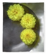 Chrysanthemums Fleece Blanket