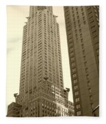 Chrysler Building Fleece Blanket