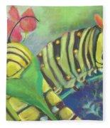 Chubby Little Caterpillars Fleece Blanket