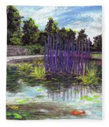 Chuhuly Installation At Biltmore Water Gardens Fleece Blanket