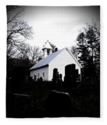 Church And Cemetary- Lens Fleece Blanket