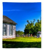 Church And Graveyard Fleece Blanket