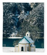Church By The Achensee Fleece Blanket