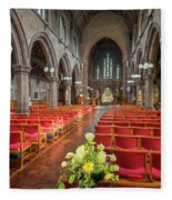 Church Flowers Fleece Blanket
