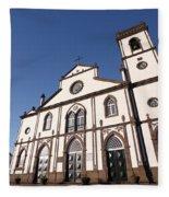 Church In Azores Islands Fleece Blanket