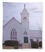 Church In Damascus Maryland Fleece Blanket