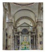 Church In Guanajuato Fleece Blanket