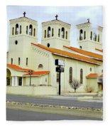 Church In New Mexico Multiplied Fleece Blanket