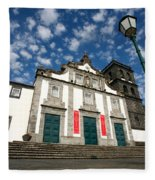 Church In Ribeira Grande Fleece Blanket